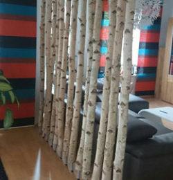 Trennwand Birke Wohnzimmer Schlafzimmer