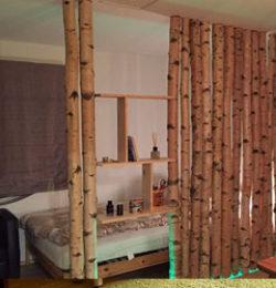 Trennwand Birke Schlafzimmer